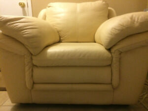 Leather Couch and love seat Tan colour