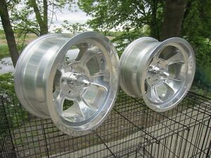 2 ROUES MAG NEUVES 15 X 8 GASSER HOTROD STYLE HALIBRAND HOT-ROD