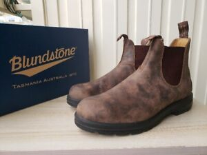 Blundstone 585 Chelsea Boots in Rustic Brown - US Mens Size 10.5