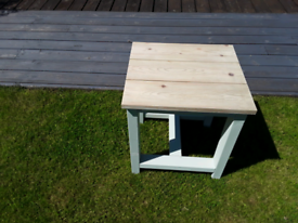 Solid wooden patio table
