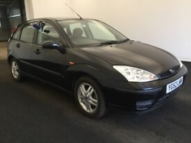 2002 52 Reg Ford Focus 1.6 Zetec, Petrol, Manual, 5 Door, Metallic Black