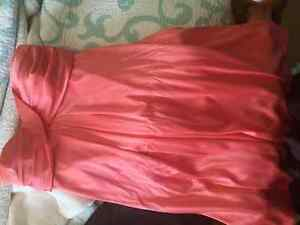 Coral sparkly dress. WORN ONCE. From Macys