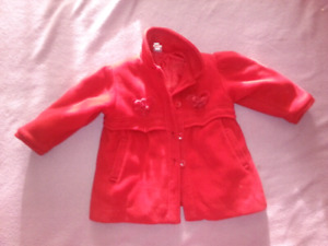 Red pea coat by Teddys Choice size 18 months