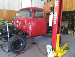 Pair of 1956 Ford pick ups f250 cab/chassis, f100 1/2 ton