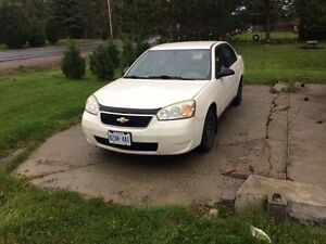 07 Chevy Malibu as is
