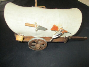 Vintage Miniature Western Covered Chuck Wagon