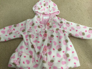 Baby Girl fleece sweater - 4 to 6 months