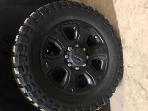 """20"""" 8-bolt Dodge factory rims with tires"""