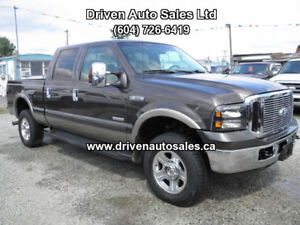 2006 Ford F-350 Lariat Diesel Leather Crew Cab 4x4 Pickup Truck