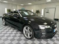 2013 Audi A5 Cabriolet 2.0 TDI S-Line Auto Cabriolet, tu-tone nappa leather..!