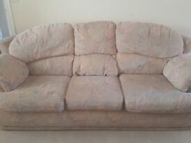 Two seater sofa and 3 seater sofabed