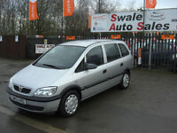 2003 VAUXHALL ZAFIRA CLUB 2.0DTi 7 SEATER, FULL SERVICE HISTORY, 2 OWNERS
