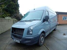 2010 Volkswagen Crafter 2.5 BlueTDI 109PS High Roof Van,Spares or Repairs,1 f...