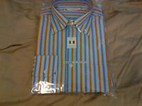 New italian dress shirt stripes size 39 made in italy
