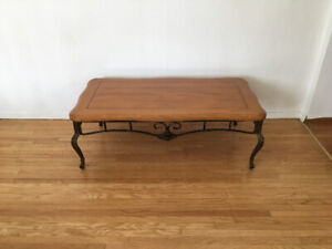 Wrought iron Coffee table & matching end table