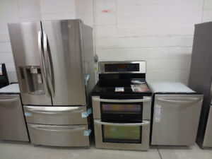 STAINLESS STEEL APPLIANCES FRIDGES STOVES DISHWASHERS