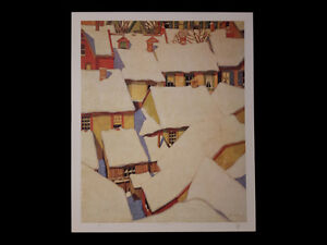 """A.J. Casson """"Roof Tops"""" Lithograph - Appraised at $1600 London Ontario image 6"""