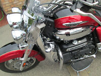 2014 TRIUMPH ROCKET 3 TOURING ABS WARRANTY EXTRAS TOURING TRUNK