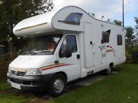 Swift Lifestyle 630L 6 Berth Motorhome for Sale with 4 Travelling Seat Belts