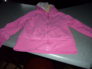 For Sale - LL Bean Lined Pink Sweater Girls 10-12