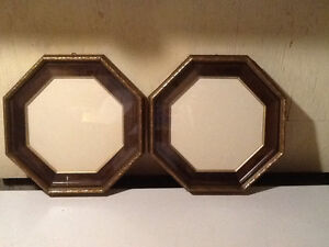 PAIR ORNATE OCTAGON PICTURE FRAMES.546