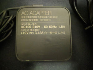 Asus 65W (19V 3.42A) AC Adapter Laptop Charger - 10/10