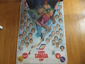 poster affiche hockey coupe canada 1981