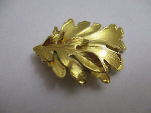 Gold Tone Two Leaf Scarf Pin
