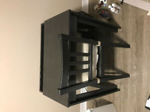 Small computer desk and chair