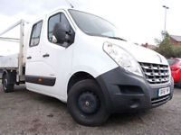 2011 61 Renault Master 2.3TD 100 LL35 CREW CAB PICK UP TIPPER CHASSIS CAB SUPER
