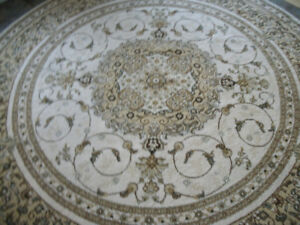 MAGNIFIQUE INTEMPORELLE ET CHIC CARPETTE RONDE TRADITIONNELLE