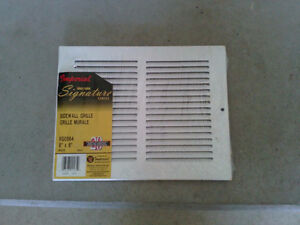 Brand new white metal sidewall grille vent cover 8 x 6 inches London Ontario image 1