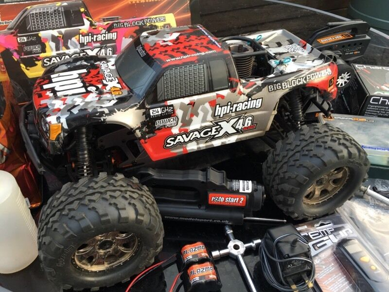 hpi savage x 4 6 big block nitro remote control r c rc in exeter devon gumtree. Black Bedroom Furniture Sets. Home Design Ideas