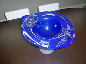 Glass Vase/Bowl by Ion Tamaian (paid $450)