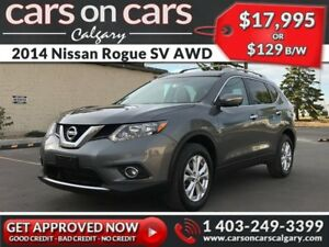 2014 Nissan Rogue SV AWD w/Sunroof, Navi, BackUp Cam $129 B/W IN