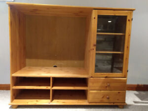 Vintage IKEA Solid Pine Wall Unit