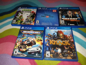 For sale ps4 video games bundle all for 40 dollar firm.