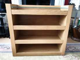 Shelves with glass top