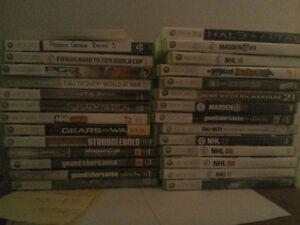 15 jeux pour 50$ , 2 jeux  pour 15$  , 10$ pour un jeux