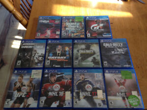 PS4 games and white controller