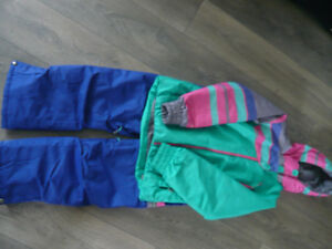 Girls Firefly Ski jacket and snow pants-size 10/12 -$90 for set