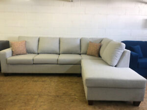 BRAND NEW CANADIAN MADE LIGHT GREY SECTIONAL-WE DELIVER