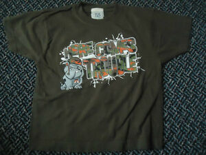 "Boys Size 4 Cotton Short Sleeve T-Shirt ""Here Comes Trouble"""