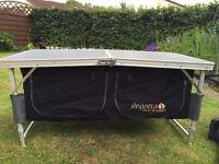 Camping caravan regatta folding storage table