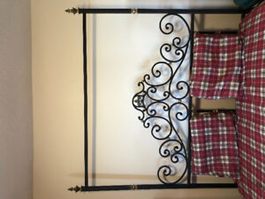 SALE Queen Size Solid Steel Frame With Bed/Blinds