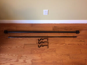 """Double Curtain Rod - Adjustable 48"""" to 96"""""""