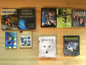 Kinesiology, Psychology, Sociology and Biology Textbooks
