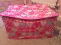 Pink heart storage / toy box