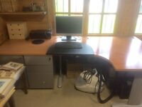 Large Office Desk & Double Drawer Units (will sell separately)