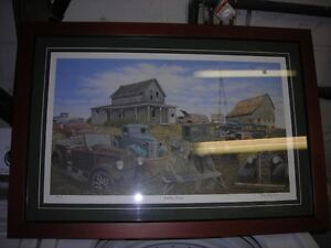 Antique car print by Gordon Drysdale